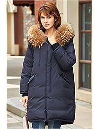 美国FALL LOVE90% 白鹅绒女士羽绒服冬季新款中长款貉子毛加厚保暖防水羽绒大码外套