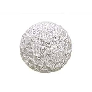 ButtonMode 面料蕾丝缎面装饰纽扣,金属鞋衬背,12 颗纽扣 象牙色 11.5mm BU190DIV