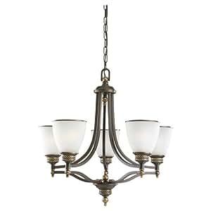 Sea Gull Lighting 五头吊灯 Estate Bronze Finish One-Light 31350-708 需配变压器