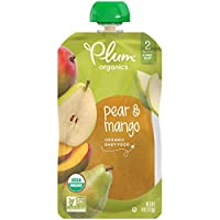 Plum Organics Stage 2, Organic Baby Food, Pear and Mango, 4 ounce pouch (Pack of 12)