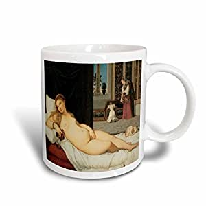 3drose BLN beautfiul nudes FINE ART 系列–VENUS OF urbino 作者 titian–马克杯 白色 15盎司