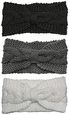 Bertelli 女式冬季针织头带和发带耳朵保暖