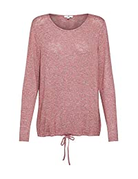 TOM TAILOR 女士 T 恤宽松,复古玫瑰混色长袖衬衫