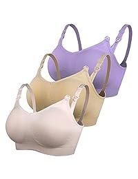 iLoveSIA 美国品牌无痕哺乳内衣孕妇文胸 4排扣 单件/两件/三件可选 7023