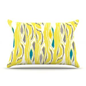 Kess InHouse Gill Eggleston 'Barengo Sunshine' 30 x 20 英寸枕套,标准