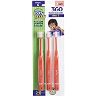 Baby Buddy 360 Toothbrush Step 2, 3 Count Value Pack 红色 2-12 years