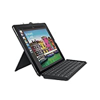 Logitech 罗技 iPad Pro 12.9英寸键盘壳,纤细组合,可拆卸,背光,无线键盘,智能连接器(英式键位) - 黑色