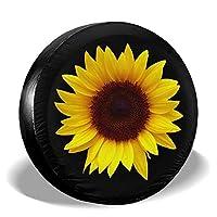 Uktly 轮胎罩 - 向日葵备用轮胎罩 适用于吉普拖车 RV SUV 卡车 14 15 16 17 英寸车轮,涤纶通用*防水防尘防腐蚀轮罩