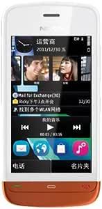 诺基亚C5-06(Nokia C5-06) 智能时尚手机 (白/橙)
