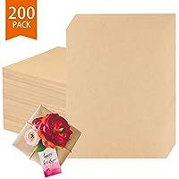 棕色牛皮纸,200 张牛皮纸纸,文具纸,适用于艺术、工艺和办公室使用,8.5 X 11 英寸