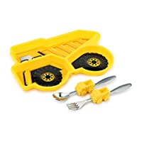 KidsFunwares Melamine Me Time Dump Truck Meal Set, Yellow