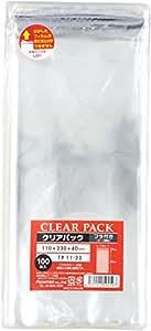 KAKUKEI 带盖透明OPP袋 带胶带 30μ100张 11×23+4cm