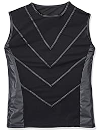 Svenjoyment 男式内裤 21609781721 SVENJOYMENT 网眼衬衫 带湿面外观 L 码,黑色 (Nero 001)