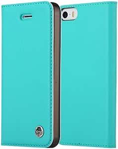 ROCK 洛克 苹果iPhone 5/5S WALL系列 防辐射保护套 天蓝色