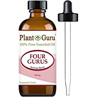 Four Gurus Synergy Blend Essential Oil 4 oz. - 100% Pure Therapeutic - Grade (Compare to Young Living Thieves & Doterra On Guard)