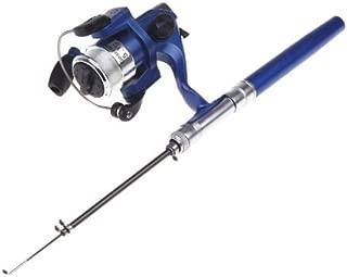 Docooler Fishing Rod 迷你钓鱼杆可伸缩口袋笔,带渔线轮和钓鱼线