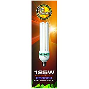Future Harvest Development Sun Blaster CFL 25000K 蓝色光谱灯泡,125 瓦