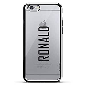 LUXENDARY CASE 对开式 黑色LUX-I6CRM-NMRONALD2 Name: RONALD, Modern FONT Style 银色