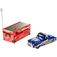 Disney/Pixar Cars, 95 Pit Crew 2015 Series, Fabulous Hudson Hornet with Stand Die-Cast Vehicle #3/8, 1:55 Scale