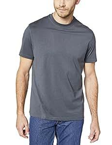 ( 1071200男士工作 T 恤 , 煤黑色 , S