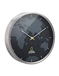 国家地理挂钟,黑色,30 厘米