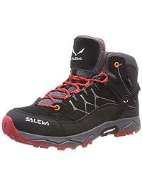 Salewa 男童 Jr Alp Trainer Mid GTX 高帮徒步靴
