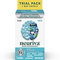 NEURIVA 快速起效脑营养补充剂,加入维生素B6,B12和叶酸,支持6项大脑表现指标 7粒