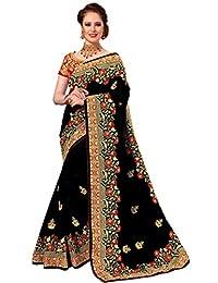 Nivah 时尚女士丝绸刺绣上衣亮丽纱丽 K776