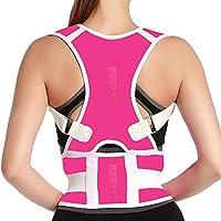 胸椎背部支撑姿势矫正器 - 磁性腰部背部支撑带 - 缓解背部*,改善胸椎后凸,适用于男士和女士腰部* X大码