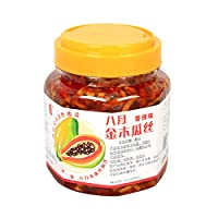 八月 金木瓜丝酱菜(香辣)480g+(微辣)480g(亚马逊自营商品, 由供应商配送)