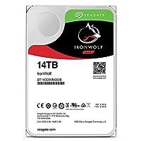 Seagate 内置硬盘 3.5\ 14TB NAS 视频编辑 IronWolf (高耐久/SATA / 7200rpm) ST14000VN0008