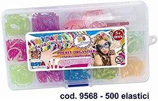 RONCHI SUPERTOYS 口袋 500 件弹性手镯 9568 Ronchi Supertoys-37027 中性儿童,多色,L