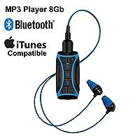 * 防水流 MP3 音乐播放器带蓝牙和水下耳机,适用于游泳引线、水上运动、短线,8 GB - H2O 音频