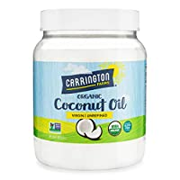 Carrington Farms Gluten Free, Unrefined, Cold Pressed, Virgin Organic Coconut Oil, 54 oz. (Ounce), Coconut Oil For Skin & Hair Care, Cooking, Baking, Smoothies - Packaging May Vary