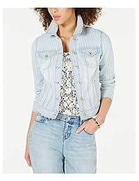Style & Co. 女式条纹牛仔夹克