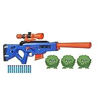 NERF Fortnite BASR-R Bolt 动作玩具枪 -- 包括 3 个灌木靶、可拆卸瞄准镜、6 个软头弹夹、6 个官方精英软头弹(亚马逊*销售)