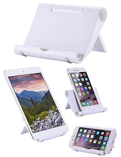 Whirldy 手机支架 桌面 懒人支架 kindle支架 ipad支架 手机平板通用 多功能 创意折叠 时尚 (白色)