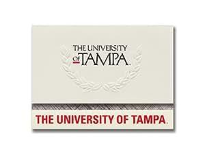 签名公告 坦帕大学毕业公告,铂金风格,基础包 20 带坦帕大学标记颜色