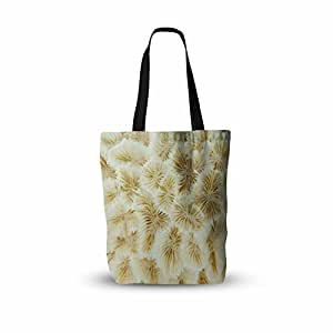 "KESS InHouse Susan Sanders""象牙白海洋海滩珊瑚色""米黄色白色摄影所有手提袋 多种颜色 16"" x 16"""