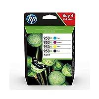 惠普原装打印机墨盒适用于惠普 officejet Pro Multipack XL Schwarz/Blau/Rot/Gelb