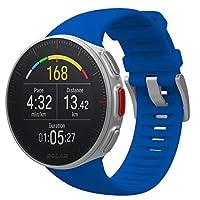 POLAR VANTAGE V 蓝色 专业 GPS 运动手表 防水 心率 Trial Slide 跑步【日本正规商品】90080283