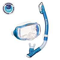 TUSA Sport Adult Imprex 3D Dry Mask and Snorkel Combo