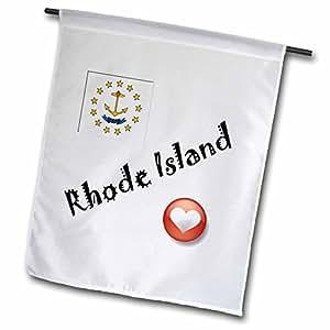 smudgeart 州旗 for THE USA–I LOVE rhode ISLAND–旗帜 12 x 18 inch Garden Flag