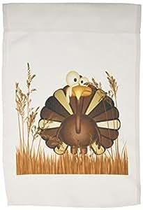 DOREEN erhardt 秋季系列–FUNNY 土耳其中长款秋季 grasses 适用于感恩节–旗帜 12 x 18 inch Garden Flag