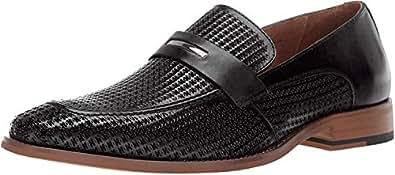 STACY ADAMS 男士 Belvan 一脚蹬乐福鞋 黑色 12 M US