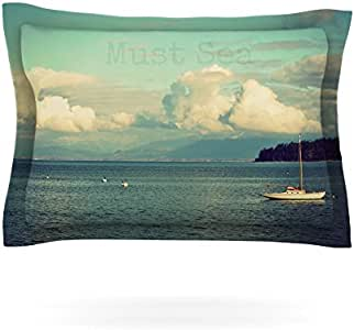 Kess InHouse Robin Dickinson 必备海洋图案枕套,101.6cm x 50.8cm