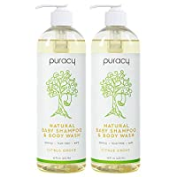 Puracy 婴儿天然洗发水 & 沐浴露,无泪配方,无硫酸盐,16盎司,(2瓶装)