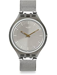 Swatch Skinmesh SVOM100M Silver Stainless-Steel Quartz Fashion Watch