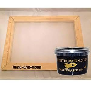 中号 A4 丝印相框和墨水套件选择您的网格数 木质 Medium A4 32t HTMFRMINKA432T