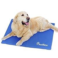 美国品牌Pawaboo 宠物冰垫 狗狗凉席 宠物床垫 凉垫 猫狗降温垫 散热脚垫 蓝色 50×40cm